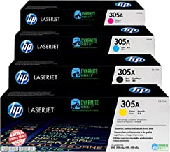 Original HP 305A CE410A / CE411A / CE412A / CE413A 4 Toner Cartridges | Black, Cyan, Magenta,...