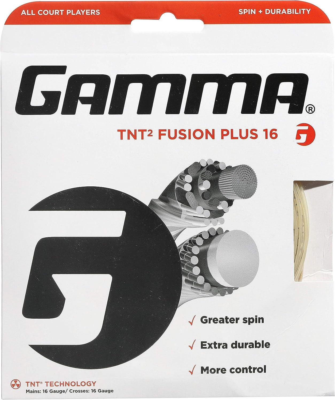 Atlanta Mall Gamma TNT2 Fusion Plus String Popularity Natural Tennis 16G