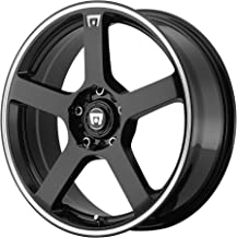 "Motegi Racing MR116 Gloss Black Wheel With Machined Flange (16x7""/5x100, 114.3mm, +40mm offset)"