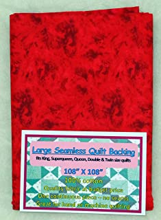 Quilt Backing, Large, Seamless, Red, C49594-360