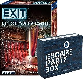EXIT Das Spiel - Set: De Tote in Orient-Express, Niveau: Profis, Escape Room Game + Escape-Party Box (stickers, poster, pu...