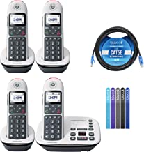 $99 » Motorola CD5014 DECT 6.0 Cordless Phone with Digital Answering Machine, Call Block, and 10dB Amplification (4-Pack) Bundle...