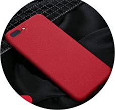 Gurioo Mobile Case Ultra-Thin Sandstone Case Back Cover Soft Cover Scrub Cover for iPhone 6 6S 7 8 X-XR XS Max Plus Phone case,Red,for XR (6.1nch)