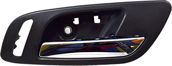 PT Auto Warehouse GM-2546MA-FR - Inside Interior Inner Door Handle, Black (Ebony) Housing with Chrome Lever - with Heated Seat Hole, Passenger Side Front