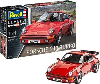Revell Maqueta Porsche 911 Turbo, Kit Modelo, Escala 1:24 (07179), Color Rojo, 18,0 cm de Largo