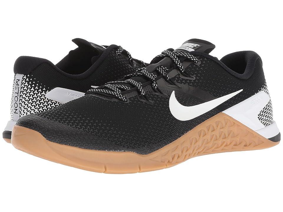 Nike Metcon 4 (Black/White/Gum Medium Brown) Men