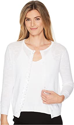 Elliott Lauren - Cardigan Sweater with Sequin Placket Front