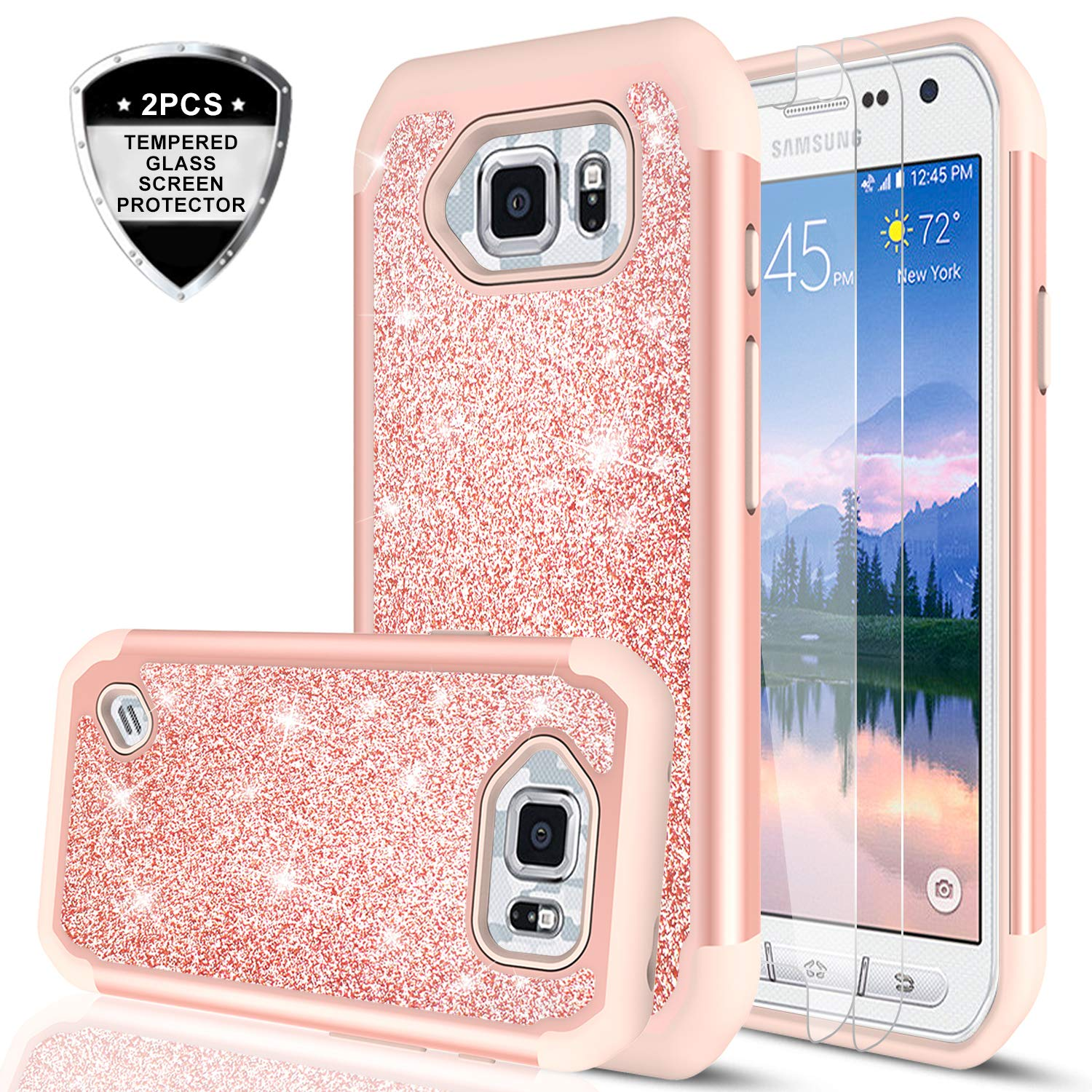 samsung s6 active cases amazon comgalaxy s6 active case (not fit galaxy s6)with tempered glass screen protector [