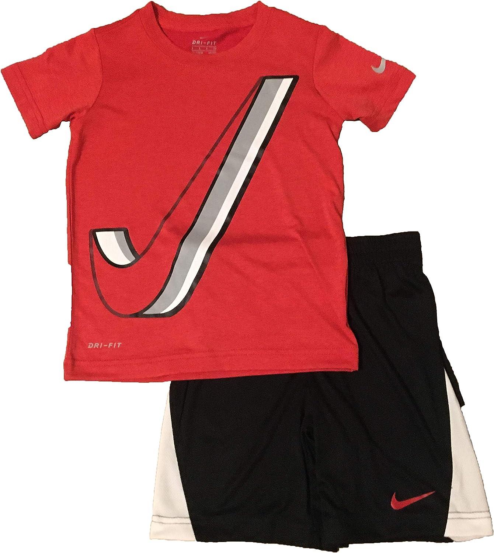 Nike Little Boys' Dri-Fit T-Shirt and Shorts Set Black Size 5