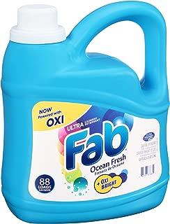 Fab Ocean Fresh Liquid Laundry Detergent (134oz)