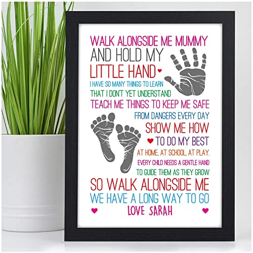Walk Alongside Me Mummy Mum Nan Nanna Nanny PERSONALISED Birthday Gifts Presents