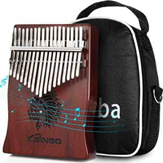 $36 » Kalimba 17 Keys Thumb Piano, Portable 17 Tone Mbira Musical instrument, Premium Rosewood Body Ore Metal Tines Finger Piano, Unique Gift Birthday Gift Idea for Kids Adult Beginners & Professional