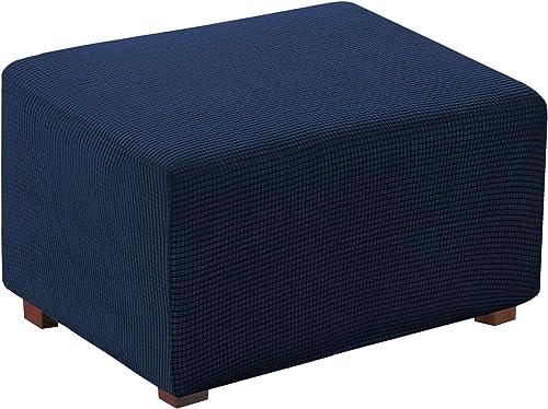 Funda elástica para otomano, taburete y muebles, plegable, para almacenamiento de muebles, funda rectangular suave y ...