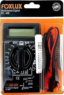 Multímetro Digital Foxlux – Com Ponta de Prova – ACV + DCV – Testes de Diodo e Transistor HFE – Teste de continuidade com ...