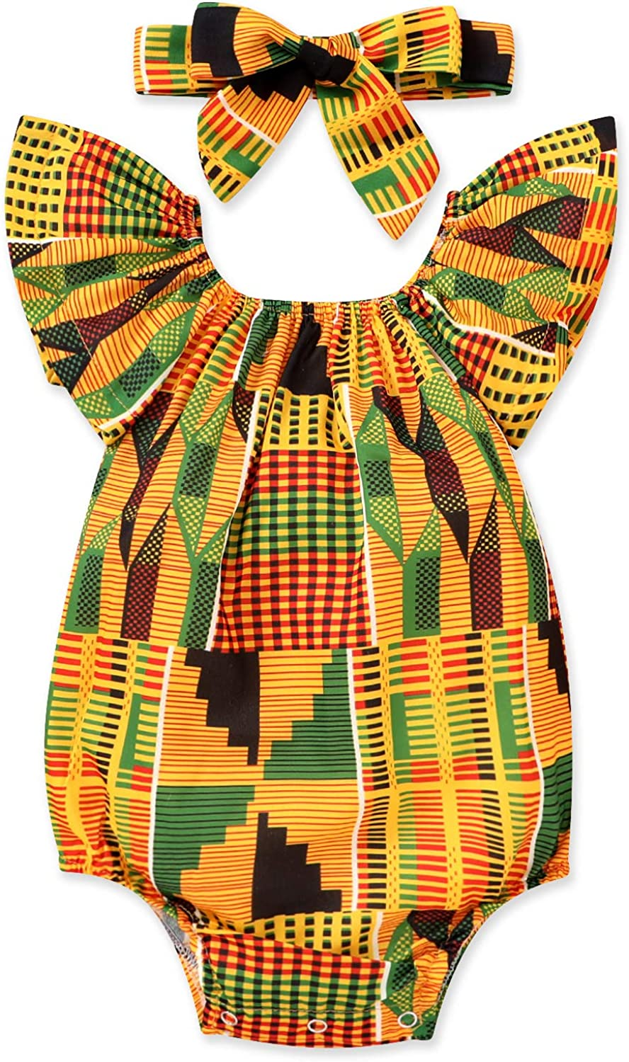Factory outlet YOUNGER TREE African Baby Clothes Girl Ankara Dashiki Fashion Set Outfit