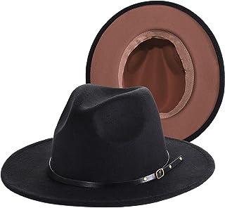 قبعة فيدورا بحزام بإبزيم بناما الجاز قبعة تريلبي بحزام من الجلد من بورسيوند