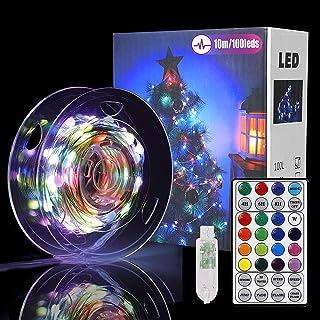 Guirlande Lumineuse 10M 100LED,12 Modes 16 Couleurs Led Fairy Lights,Étanche IP67 Pour Etanche Décoration Romantique pour ...