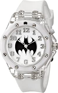 Batman Kids' BAT9016 Analog Display Analog Quartz White Watch