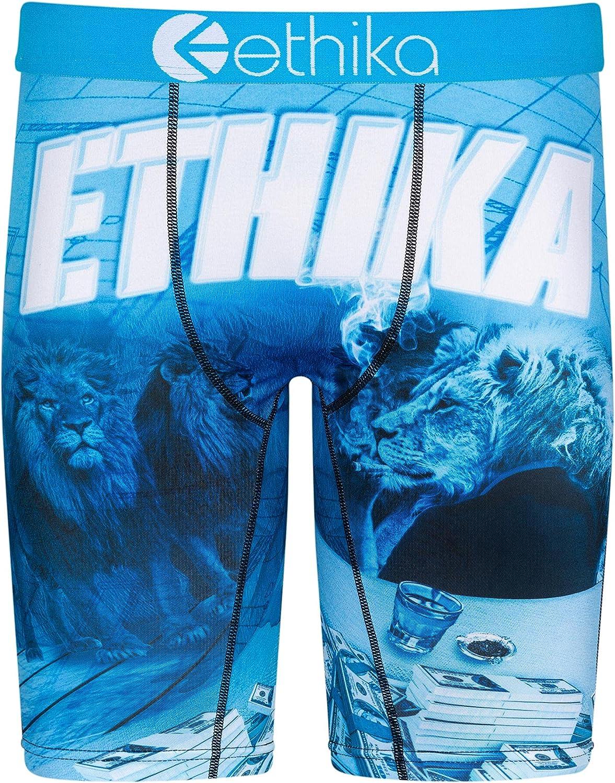 Ethika Mens Staple Boxer Briefs   Blue Print