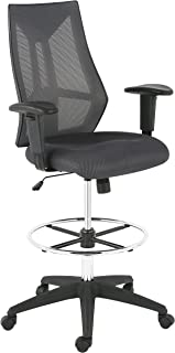 Poly and Bark Benicia Drafting Chair in Mesh, Grey