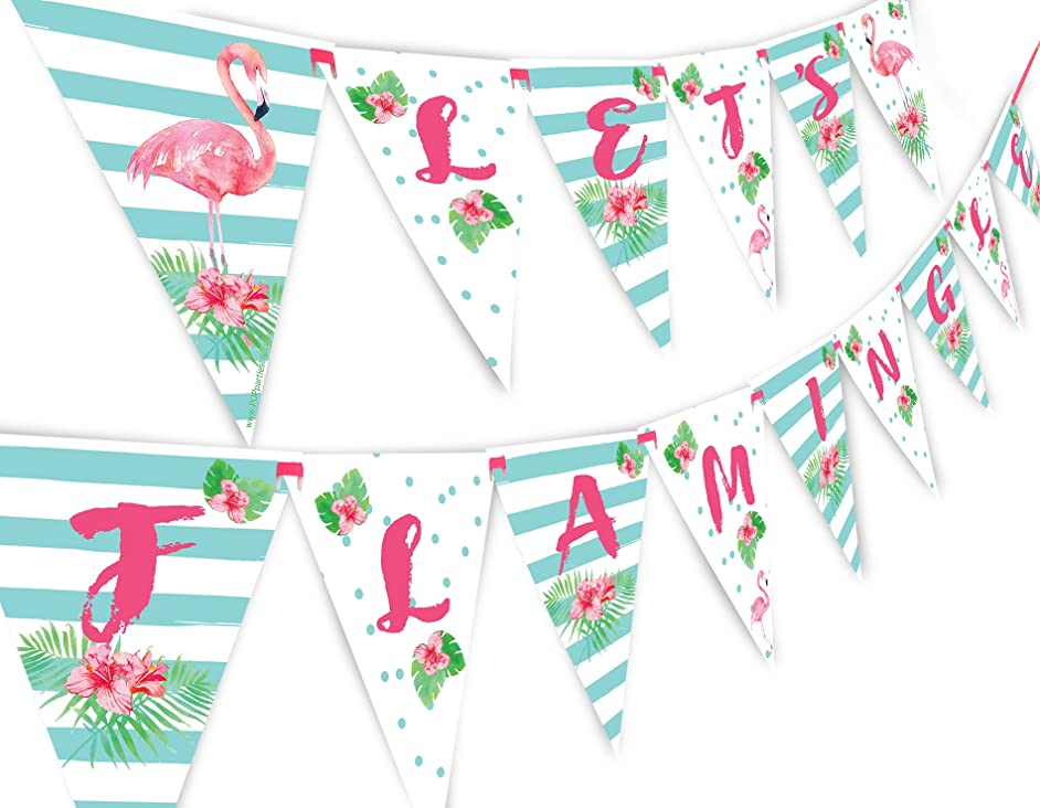 POP parties Let's Flamingle Banner Pennant - Flamingo Party Banner