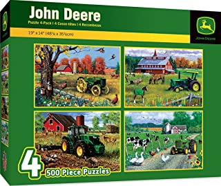 MasterPieces John Deere Jigsaw Puzzles, Art by Greg Giordano, 500-Piece, 4-Pack