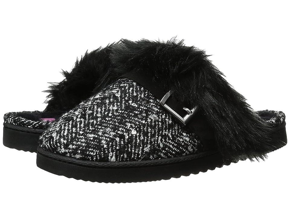Foot Petals Technogel Closed Toe Scuff (Black/White Tweed) Women's Slippers