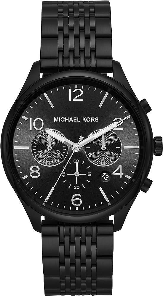 Michael kors merrick, orologio per uomo,in acciaio inossidabile MK8640