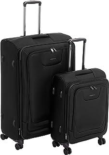 AmazonBasics Premium Expandable Softside Spinner Luggage with TSA Lock
