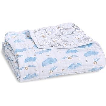 Teal Paisley Drop aden anais Classic Dream Blanket Paisley