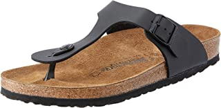 Birkenstock Unisex Adults' Gizeh Sandals, Black, 40 EU