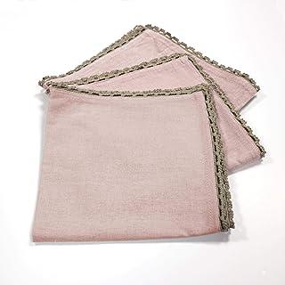 douceur d'intérieur 3002493 Set de 3 Serviettes de Table Femina Coton Dragée 40 x 40 cm