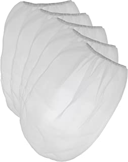 Pack of 25 Paint Strainer White Fine Mesh Disposable Bag Filters with Elastic Top Opening - 5 Gallon Bucket Size for Use with Paint Guns and Sprayers - by Golden Coast Unlimited