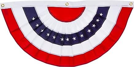 Evergreen Flag Patriotic Applique Bunting (5 x 2.5, 1 Piece)