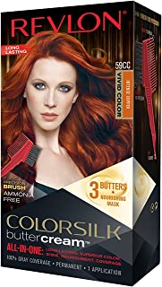 Revlon Colorsilk Buttercream Hair Dye, Vivid Intense Copper, Pack of 1