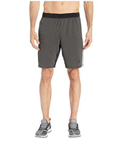 adidas 4Kraft 9 3-Stripe Shorts (Black/Heather) Men