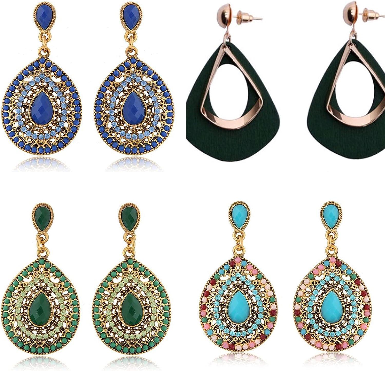 Daily bargain sale 4-8 Pairs Multicolor Fashion Drop Perfect Virginia Beach Mall Birthd Earrings Sets