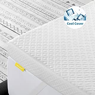 Lauraland Mattress Topper Queen Size, 3-Inch Premium Gel Memory Foam Mattress Topper with Removable Active Cooling Cover, CertiPUR-US 10-Year Warranty