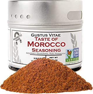 Taste of Morocco - Artisanal Craft Seasoning - Gourmet Spices Blend - Non GMO - 1.2 Ounce - Magnetic Tin - Small Batch - H...