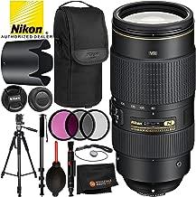 Nikon AF-S NIKKOR 80-400mm f/4.5-5.6G ED VR Lens - 7PC Accessory Bundle Includes 3PC Filter Kit (UV, CPL, FLD) + 72