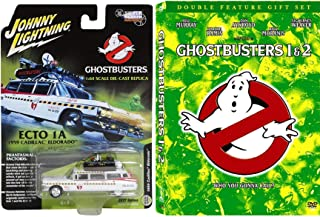 We Believe You Ghost Busters Giftpack DVD Movie Car Set Ghostbusters 1 & part 2 with Ecto 1 Cadillac toy car collectible ghost catcher