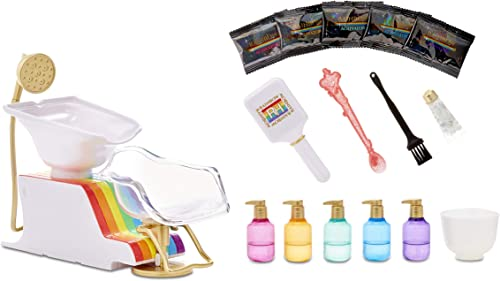 high quality Rainbow 2021 High Salon Playset with Rainbow of DIY Washable Hair Color Foam 2021 for Kids and Dolls - Doll Not Included online