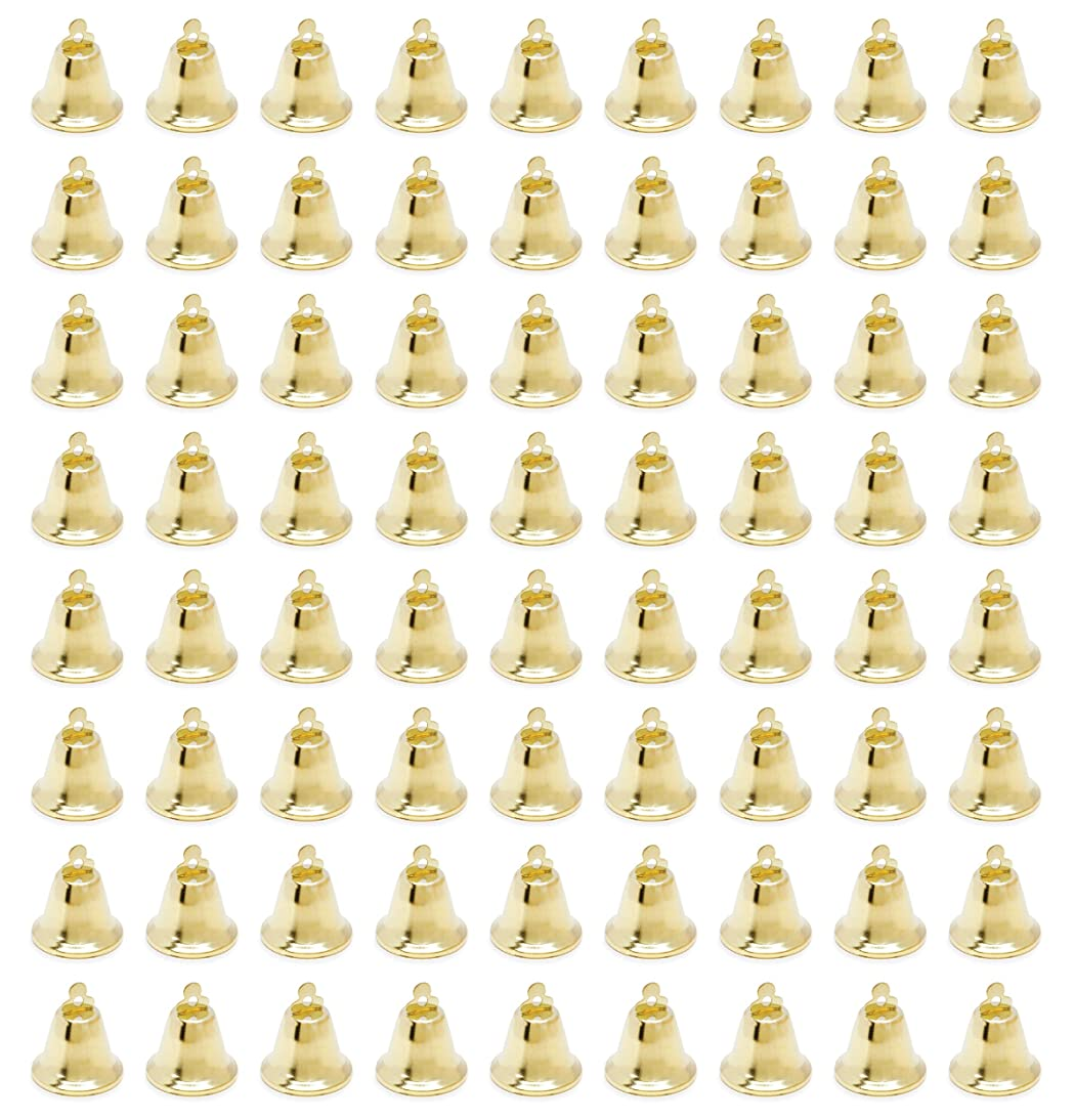 Present Avenue Gold Liberty Bells, Jingle Bells for Craft and Favor Decorating, 72 pcs (2 Pack of 36) 5/8 inch