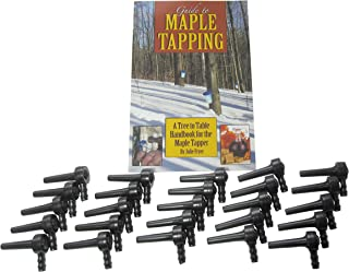 """Maple Tree Taps (25 PACK) 5/16"""" Tree Saver, Maple Sugaring, Maple Syrup Spiles - Plus 80 page how-to book """"Guide to Maple Tapping"""""""