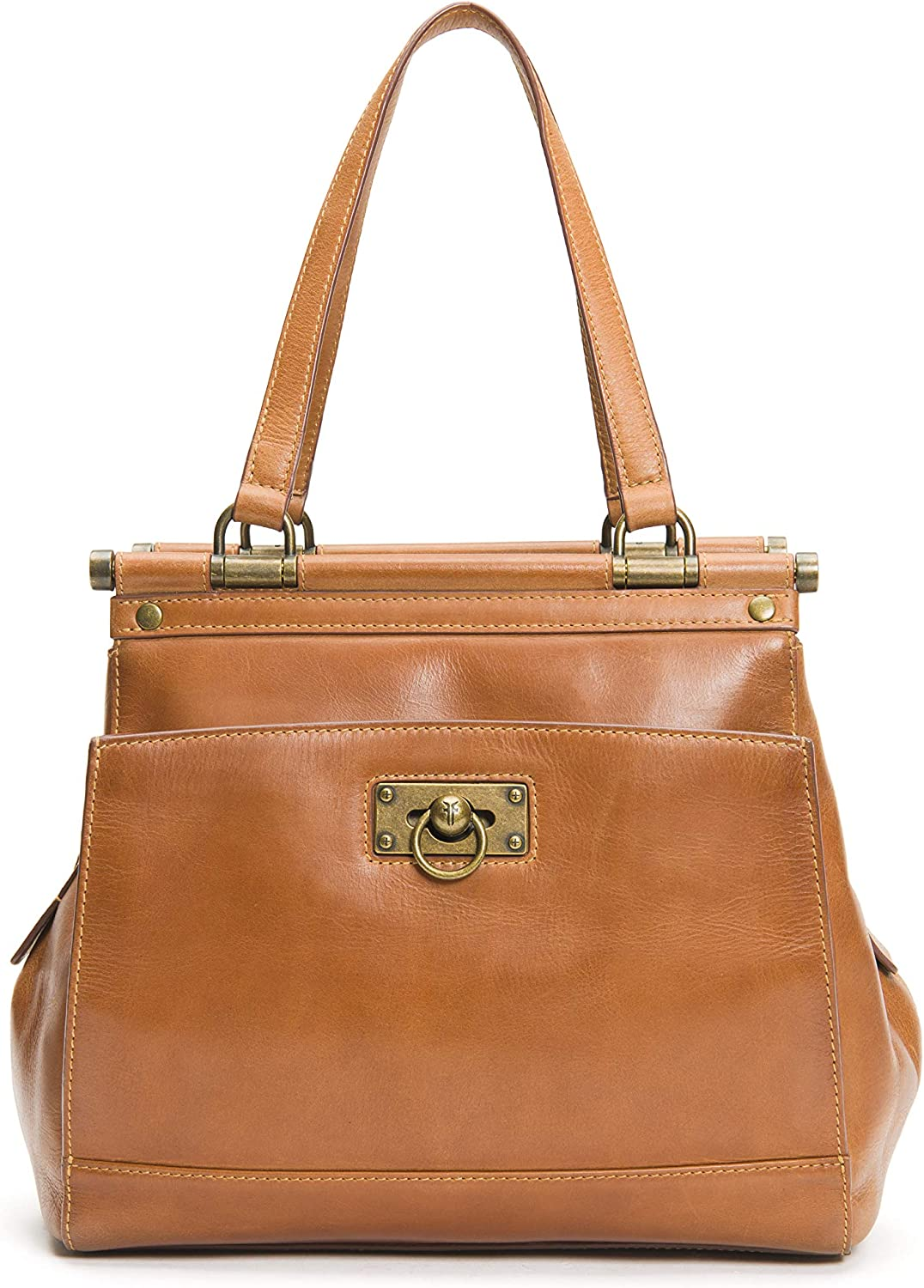 Frye All stores are sold Don't miss the campaign Farrah Tote Cognac