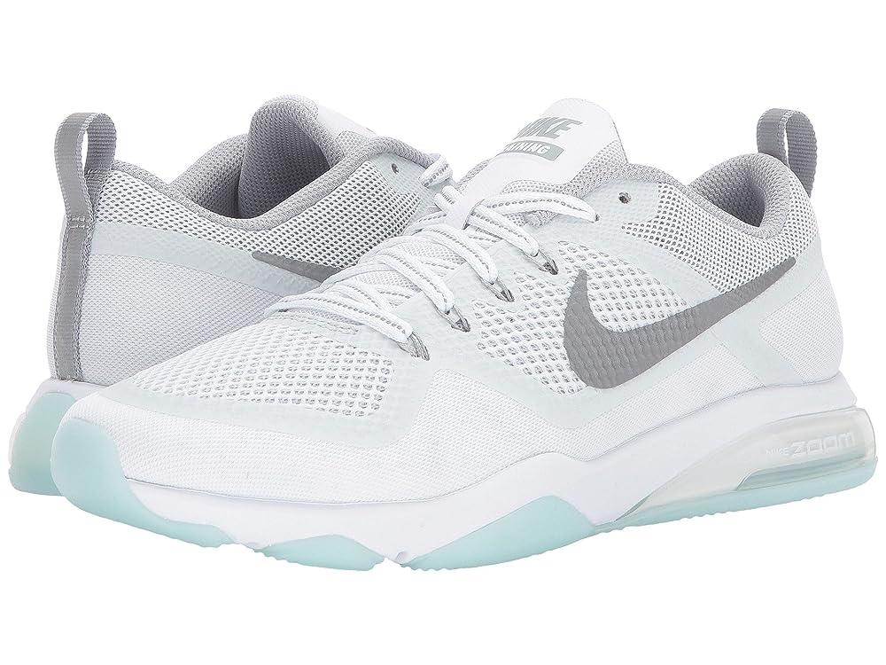 動かない応答支店(ナイキ) NIKE レディースランニングシューズ?スニーカー?靴 Zoom Fitness Reflect Training White/Reflect Silver/Glacier Blue 10.5 (27.5cm) B - Medium