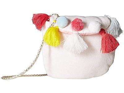 Mud Pie Tassel Purse (White) Tote Handbags