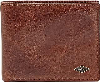 Fossil Men's RFID Flip ID Bifold Wallet, Ryan-Dark Brown, One Size