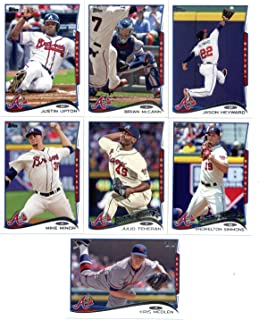 2010,2011,2012,2013 & 2014 Topps Atlanta Braves Baseball Card Team Sets (Complete Series 1 & 2 From All Five Years )