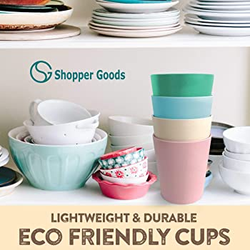 Bamboo Kids Toddler Cups Multi-Color (4 Pack / 10 Oz) | Eco-Friendly & BPA-Free | Baby Safe Drinking Cups Sippy Cup N...